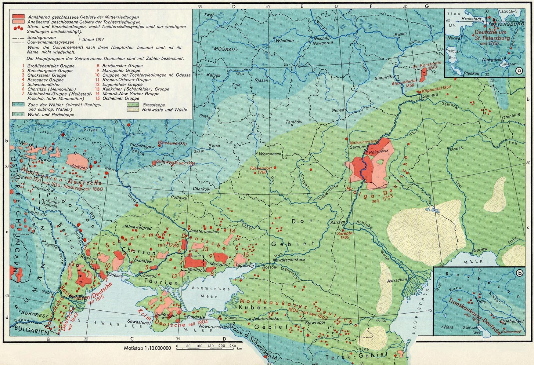 Deutsches Reich Karte.Karte Der Deutschen Siedlungsgebiete Im Russischen Reich Vor 1917