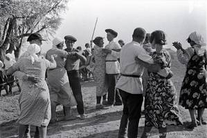 Dancing during a function at the Frankreich collective farm, 1938.